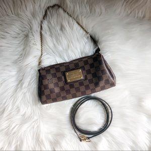 Authentic Louis Vuitton Eva Crossbody Damier Brown